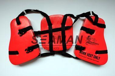 タツノオトシゴの 救命胴衣 の大人のビニール-すくいポリ塩化ビニールの船遊びの救命胴衣 3 のパネル
