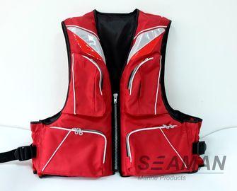 耐久の方法4は420Dナイロン ポリエステル ポリ塩化ビニールの泡大人釣救命胴衣100Nを懐に入れます